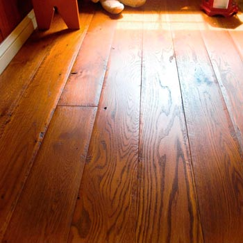 Rustic White Oak with Tavern Brown Finish