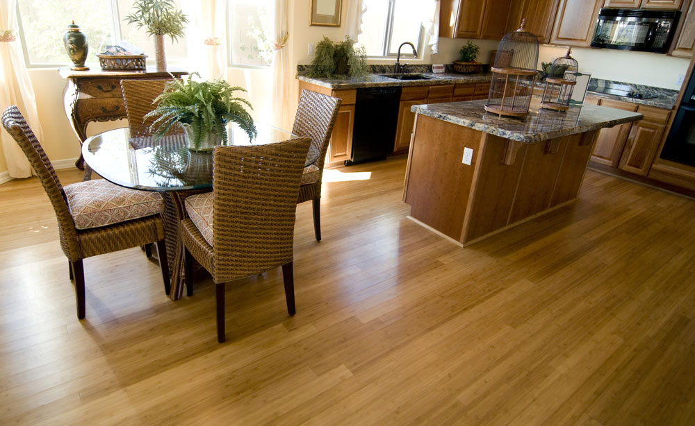 Dining Room with Plank Floors