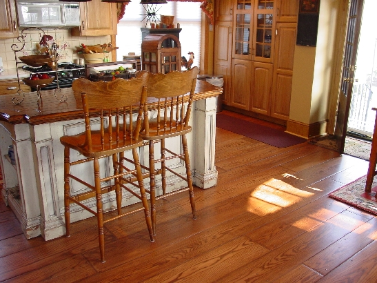 Kitchen with Tavern Brown Stain and Polyurethane Finish