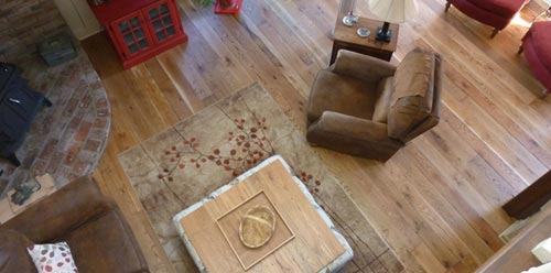 Rustic White Oak Shown in Weathered Calico Style