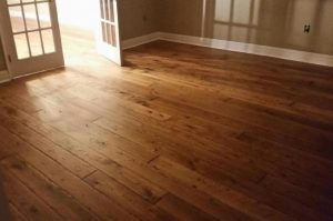 Rustic 6 inch white oak plank floors