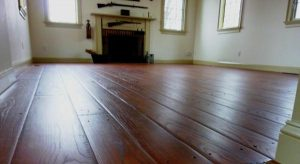 Colonial plank floors