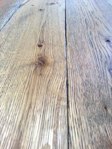 Rustic white oak plank