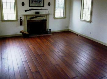 Red Oak Long Hand Cut Period Style Planks With Rubbed Stain And European Oil Topcoats Shown Here 6 7 8 Inch